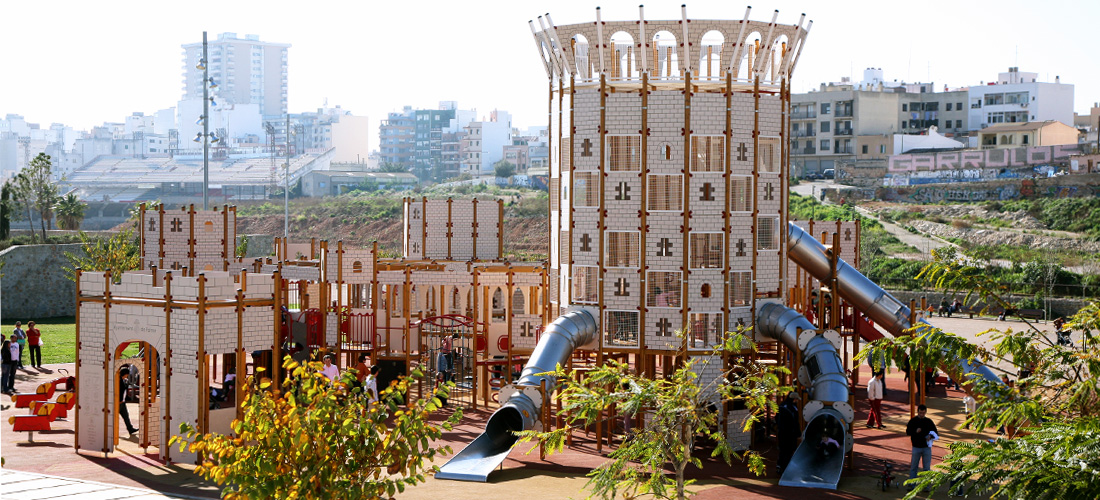 Castle themed playground Palma de Mallorca